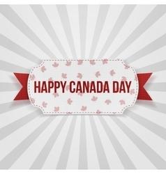Happy canada day realistic badge vector