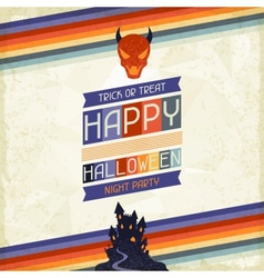 Happy Halloween grungy retro background vector image