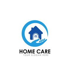 Home care logo design template home icon vector