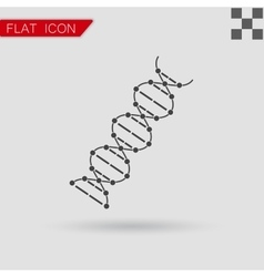 image DNA Drawing Flat Style with red vector image