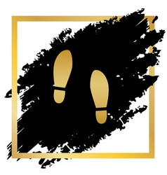 imprint soles shoes sign golden icon at vector image