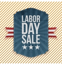 Labor Day Sale paper Emblem vector