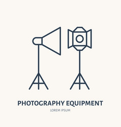 Light modifiers flat line icon photography vector