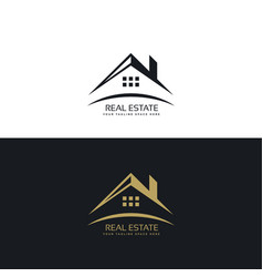 Logo design for real estate vector