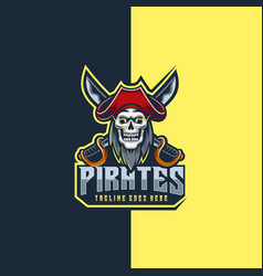logo pirates e sports style vector image