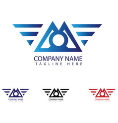 m letter logo design vector image
