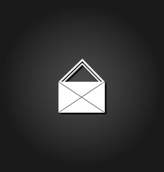 mail icon flat vector image