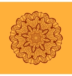 Mandala-like coloring work texture Hand-drawn new vector