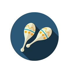 Maracas flat icon Summer Vacation vector