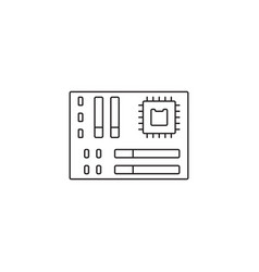 motherboard icon outline or line style vector image