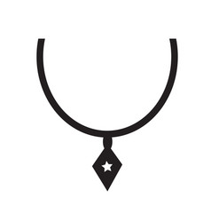 necklace icon synbol design vector image