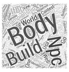 NPC Body Building Word Cloud Concept vector