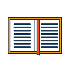 Overhead view of a book personal organiser planner vector