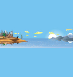 panorama the landscape of the arab world vector image vector image