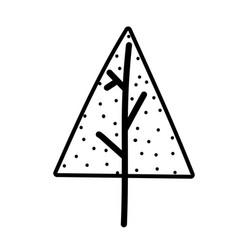 pine tree plant nature decoration line icon style vector image