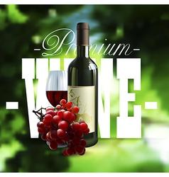 Premium wine design vector image