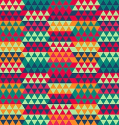 Retro triangle seamless pattern vector