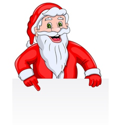 Santa Claus with a Blank Sign vector image