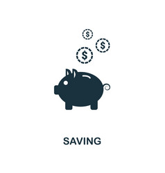 saving icon line style icon design from personal vector image