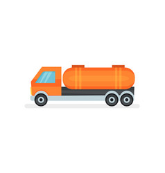 semi truck with large orange reservoir heavy vector image