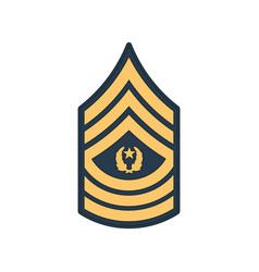 Sergeant major army rank insignia sma sign vector