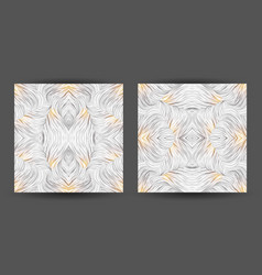 Set abstract pattern seamless line art vector
