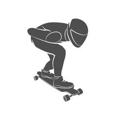 skateboarder longboarding downhill vector image