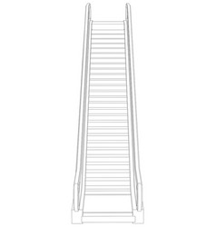 Sketch of escalator front view vector