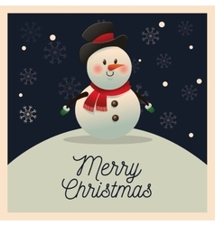 Snowman cartoon of Christmas season design vector