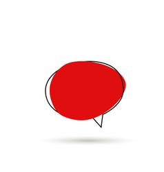 speech bubble sign icon vector image