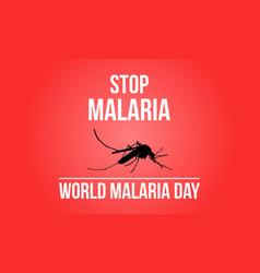 Stop malaria sign collection stock vector