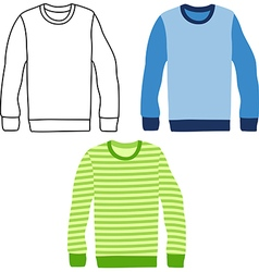 sweaters vector image