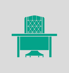 Table and armchair icon vector