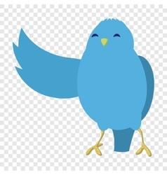 Talking blue bird vector