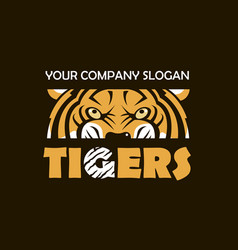tiger head emblem vector image