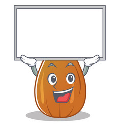 Up board almond nut character cartoon vector
