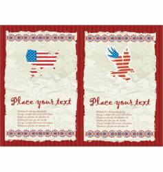 usa textured backgrounds vector image vector image
