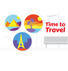vacation design for travel vector image