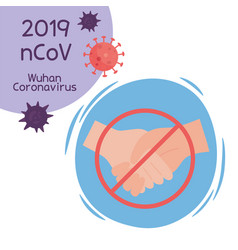 Virus covid 19 prevention avoid contact sick vector