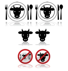 Beef icons vector image vector image