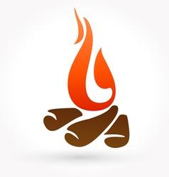 Bonfire icon vector image vector image