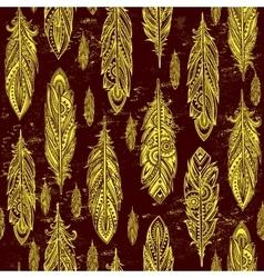 Ehnic feather seamless vector image vector image