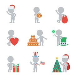 Flat people holidays vector image vector image