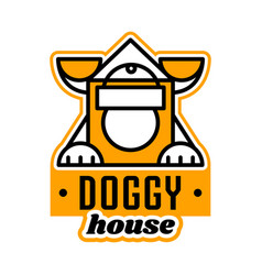 logo on the theme of the house for dogs kennel vector image