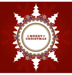 Red and Gold Christmas Tree Design vector image
