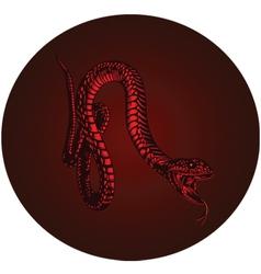 red monster snake vector image vector image