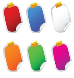 sticker set color on white vector image vector image