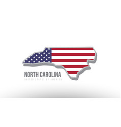 a county state with us united states flag vector image