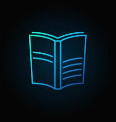 book blue icon vector image vector image
