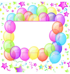 Party Balloons Banner vector image vector image